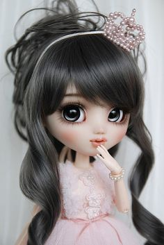 OOAK Pullip Custom Doll - Princess Pink - by Happydolly Cartoon Girl Images, Cute Cartoon Girl, Beautiful Barbie Dolls, Pretty Dolls, Ooak Dolls, Blythe Dolls, Mode Pin Up, Cute Baby Dolls, Kawaii Doll