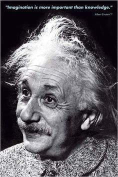 Physicist Albert Einstein- Imagination 24x36 Inch Art Poster by Eurographics This Black & White 24 x 36 inch poster captures one of the worlds most famous scientists along with his well known quote: ""