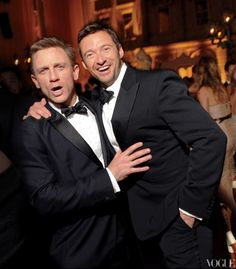 Daniel Craig and Hugh Jackman. I can't handle this!