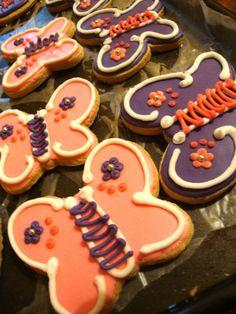 Butterfly sugar cookies<3