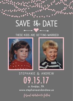 SavetheDate Invitations Very Cute Idea These Kids Are Getting - Funny save the date templates