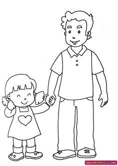 Etkinlik Havuzu - Etkinlik Detay Family Coloring Pages, School Coloring Pages, Bible Coloring Pages, Coloring Books, Art Drawings For Kids, Drawing For Kids, Easy Drawings, My Daughter Quotes, Flash Wallpaper
