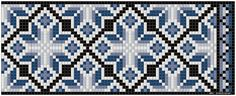 Φορεσιά, κοσμήματα, ιστοί & Tole Ζωγραφική: μοτίβο Kvarde σταυροβελονιά Lace Patterns, Beading Patterns, Embroidery Patterns, Cross Stitch Patterns, Hardanger Embroidery, Knitting Charts, Loom Beading, Knitting Needles, Bead Weaving