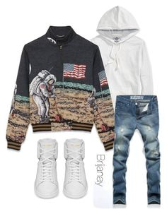 """""""Menswear"""" by briannacollins on Polyvore featuring Yves Saint Laurent, American Rag Cie, women's clothing, women, female, woman, misses and juniors"""