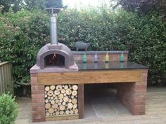 brick pizza oven outdoor The Stone Bake Gallery - The Stone Bake Oven Company Outdoor Cooking Area, Pizza Oven Outdoor, Brick Oven Outdoor, Backyard Patio Designs, Backyard Landscaping, Barbecue Four A Pizza, Garden Pizza, Bbq Area Garden, Diy Bbq Area