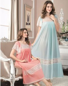 Bait Al Jallabiyat brands is celebrated for her timeless and elegant designs of intimate apparel, lingerie, and night dress products for the womens. Sleepwear Women, Pajamas Women, Night Gown Dress, Nightgown Pattern, Night Dress For Women, House Dress, Lingerie Collection, Satin Dresses, Dame