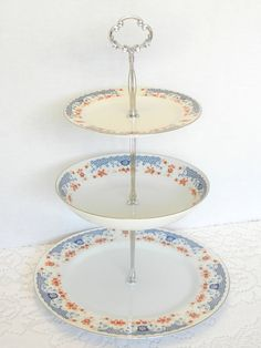 Dessert Stand, Cake Stand, Appetizer Tray, Vintage China, Cupcake Stand, Cookie Tray, Tidbit Stand – Vintage Fashion Manor Bonjour