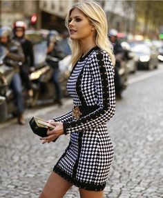 Female Outfit in Black and White Classy Outfits, Casual Outfits, Mode Outfits, Fashion Outfits, Fashion Shoes, Fashion Tips, Fashion Trends, Cute Dresses, Casual Dresses