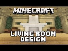 Minecraft Tutorial: How To Build A House Part 11 (Living Room Furniture Design)