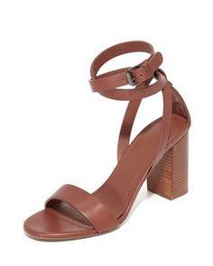 vince farley leather strap sandal