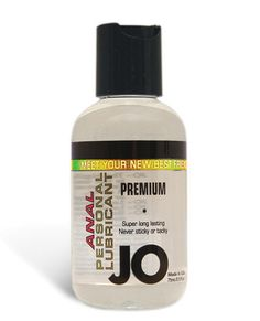 System Jo Anal Personal Lubricant - 2.5 Oz Meet Jo, the new addition to your relationship! System Jo Anal Personal Lubricant is made with Silicone. The lubricant comes in a 2.5-ounce bottle with push top lid. Jo is formulated to last long and never leave a sticky feeling behind. With U.S. FDA regulations backing Jo, you know it is safe. Slide into something amazing!