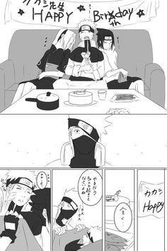 Kakashi remembering the past