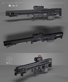 ArtStation - Heavy Anvil, Carlos Vidal A bullpup chemrail! How about that...