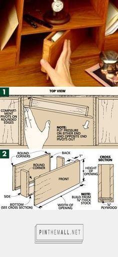 Adding a hidden compartment. More #woodworkingtips #WoodworkingPlans