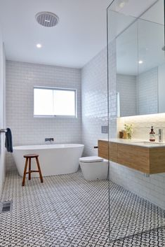 Lean To House bathroom design
