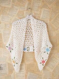 vintage crochet shawl got that white shawl from Goodwill that needs a little something to spark it up. hmmmm.....