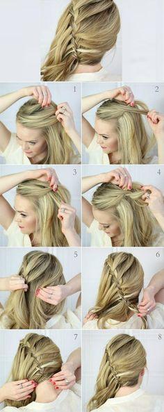 Waterfall Braid Hair Styles For Long Hair