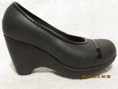 Sz 4 M Crocs Black Wedge #Crocs #PlatformsWedges