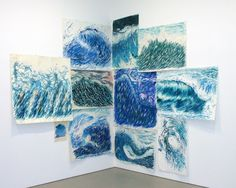 Raymond Pettibon- love how this is installed, just about everything about it, must look this guy up...