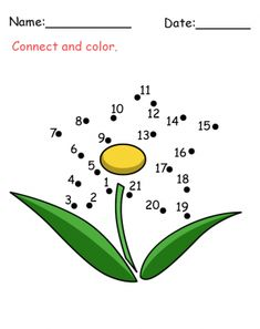 Flower Connect The Dots Activity. Your kids will LOVE this free printable activity.