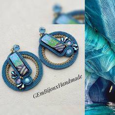 Soutache Earrings, Handmade Jewellery, Shibori, Natural Stones, Earring Set, Diy And Crafts, Women's Fashion, Turquoise, Soutache Jewelry