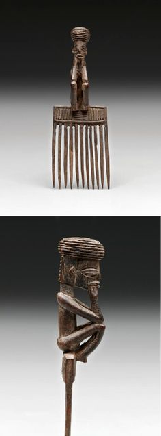 Africa | Comb from the Chokwe or Lwena people of DR Congo and Angola | Wood | Late 19th to early 20th century