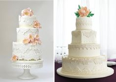 Love the lace detail, the flowers on cake don't have to be fondant flowers, can use fresh flowers instead if that's easier