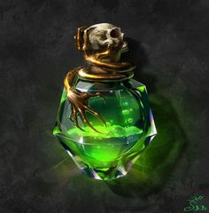 Are we going with the typical greenish colors for a villainous mal?