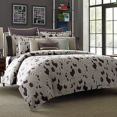 Kenneth Cole Reaction Home Shade Comforter in Plum