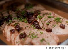 Medallions of Pork with a Port Cherry Demi-Glaze- Big City Catering