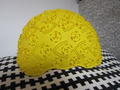 Sunny swim cap hat in bright yellow / 195060 by MarshmallowElectra, $25.00