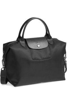 2c884c9b6dd4 Longchamp  Medium Le Pliage Neo  Nylon Tote - Black Purple Bags