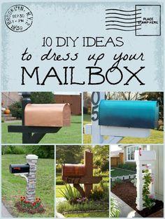 10 DIY Mailbox Ideas for A Happy Mailbox | Remodelaholic.com #diy #mailbox #curbappeal @Remodelaholic .com