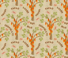 CUSTOMER PROOF - Cacao Trees with Midges and Mayan Glyph for