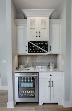 General idea including wine fridge, and needs a small sink for butler's pantry i. General idea including wine fridge, and needs a small sink for butler's pantry in the walk-in pantry after moving the wall back, Home Kitchens, Kitchen Remodel, Kitchen Design, Kitchen Decor, Modern Kitchen, Home Remodeling, Bars For Home, New Kitchen, Home Decor