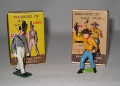 1960's Marx Warriors of the World Peter Mayes & Roger Dawson Figures MIB #BT57
