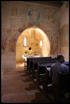 The church of light, Velemér, Hungary Built in the late century this Romanesque and early Gothic edifice has become world famous thanks to the frescos created by John Aquila around John. Church Of Light, Romanesque, Hungary, Fresco, Budapest, Bugs, Architecture, Building, Travel