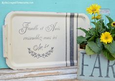 Farm Fresh Painted Projects stenciled tray