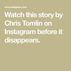 Watch this story by Chris Tomlin on Instagram before it disappears. Singer Sam Smith, Online Cooking Classes, Ukulele Songs, Chris Tomlin, Sam Claflin, Country Music Singers, Paul Mccartney, Followers, Instagram