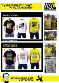 Pnoy Shirt  Designer: Alvin Gilbert Dc. Gonda  Email: abugonda@yahoo.com