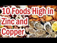 Top 10 Zinc and Copper Rich Foods. Top 10 foods highest in zinc and copper. Best 10 foods rich in zinc and copper. Top 10 high zinc and copper foods. What Foods Have Zinc, Foods High In Zinc, Zinc Rich Foods, Zinc Deficiency, Vegetarian Recipes, Copper, Youtube, Top, Youtubers