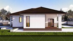 case cu doua dormitoare Two bedroom single story house plans 5 Home Design Plans, Plan Design, House Exchange, 1 Bedroom House Plans, House Design Pictures, One Story Homes, House Blueprints, Montego Bay, Story House