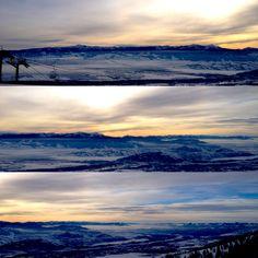 View from atop Rendezvous Mountain - Teton Village Ski Resort - Jackson Hole, WY