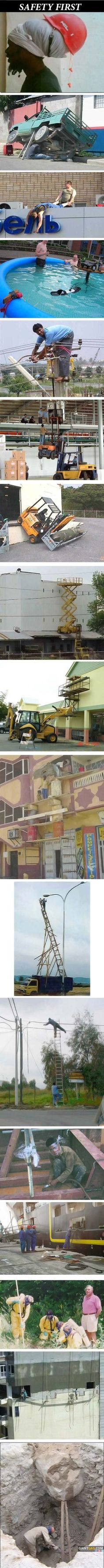 Safety First Compilation, click the link to view more funny pictures !