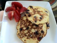 Original Paleo Pancakes Recipe (1 serving):  1 Egg  1 Banana  1 TBSP Almond Flour - made these on Saturday after our workout and they were DELISH!  The banana adds all the sweetness you could want.  I recommend cooking on low heat for a long period to keep it from falling apart..also add cinnamon!