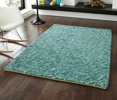 Brand New Pebbles Teal contemporary Wool Rug 150 x 230cm LOW STOCK CONTACT US