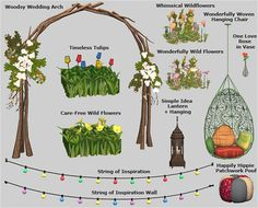 Veranka - Bohemian Garden 3t2.  I like the natural look to this wedding arch.