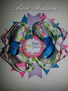 Easter Hairbow  $5.50  Made by Bow Mania