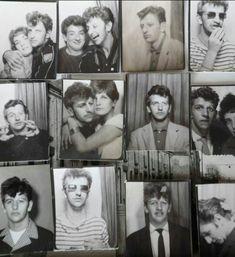 a mixed bag of photobooth shots of Ringo Starr, ca. 1960 via vintage everyday The Quarrymen, Bug Boy, Richard Starkey, Teddy Boys, We Will Rock You, The Fab Four, Yellow Submarine, Ringo Starr, Paul Mccartney