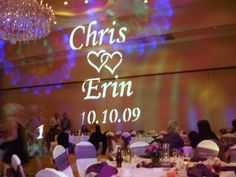 Monogram Lighting Package  Name in Lights  Gobo Projection & Wedding Gobo Projection